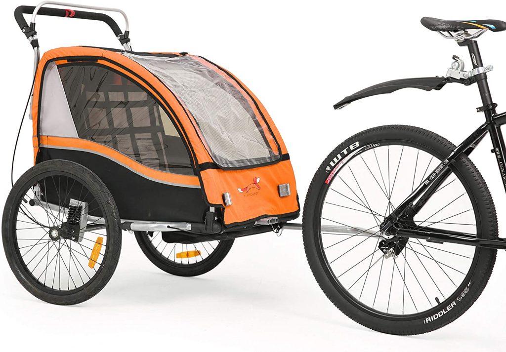 Fiximaster Remorque de vélo 2020 V2 multifonction 2 en 1 - Rotation à 360°