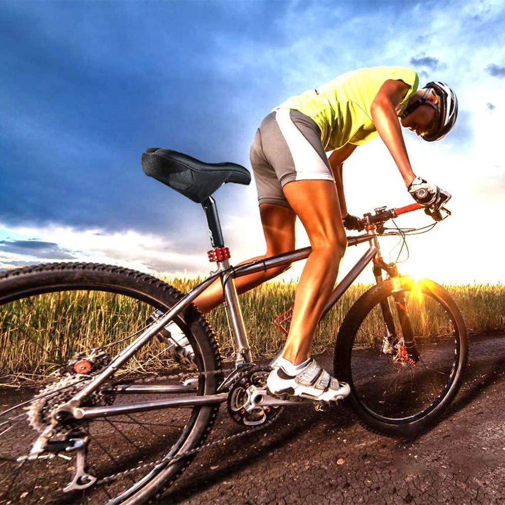 auvstar Vélo Selle Housse,Housse de Siège de Vélo en Gel,Silicone Coussin de Selle pour Vélo